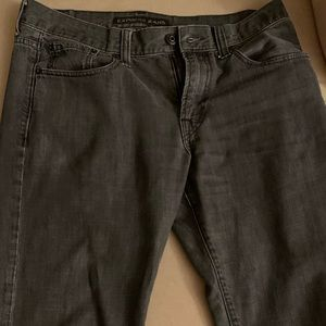 Express black boot cut jeans 33x34